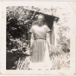 my maternal grandmother, in a rare photo by herself