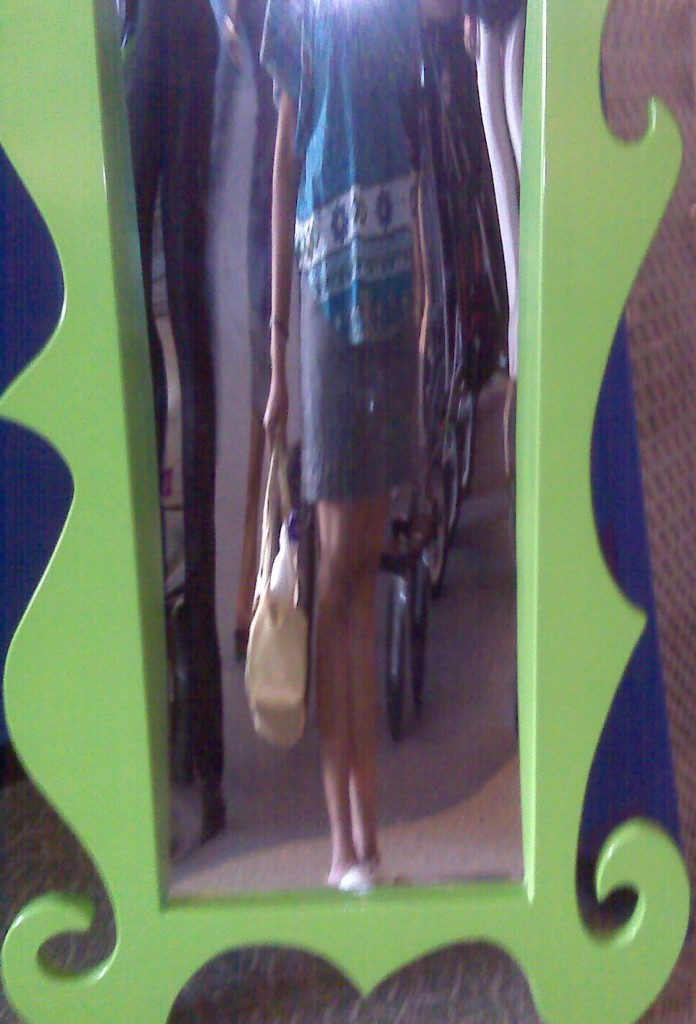my body, longer, thinner, in a fun house mirror