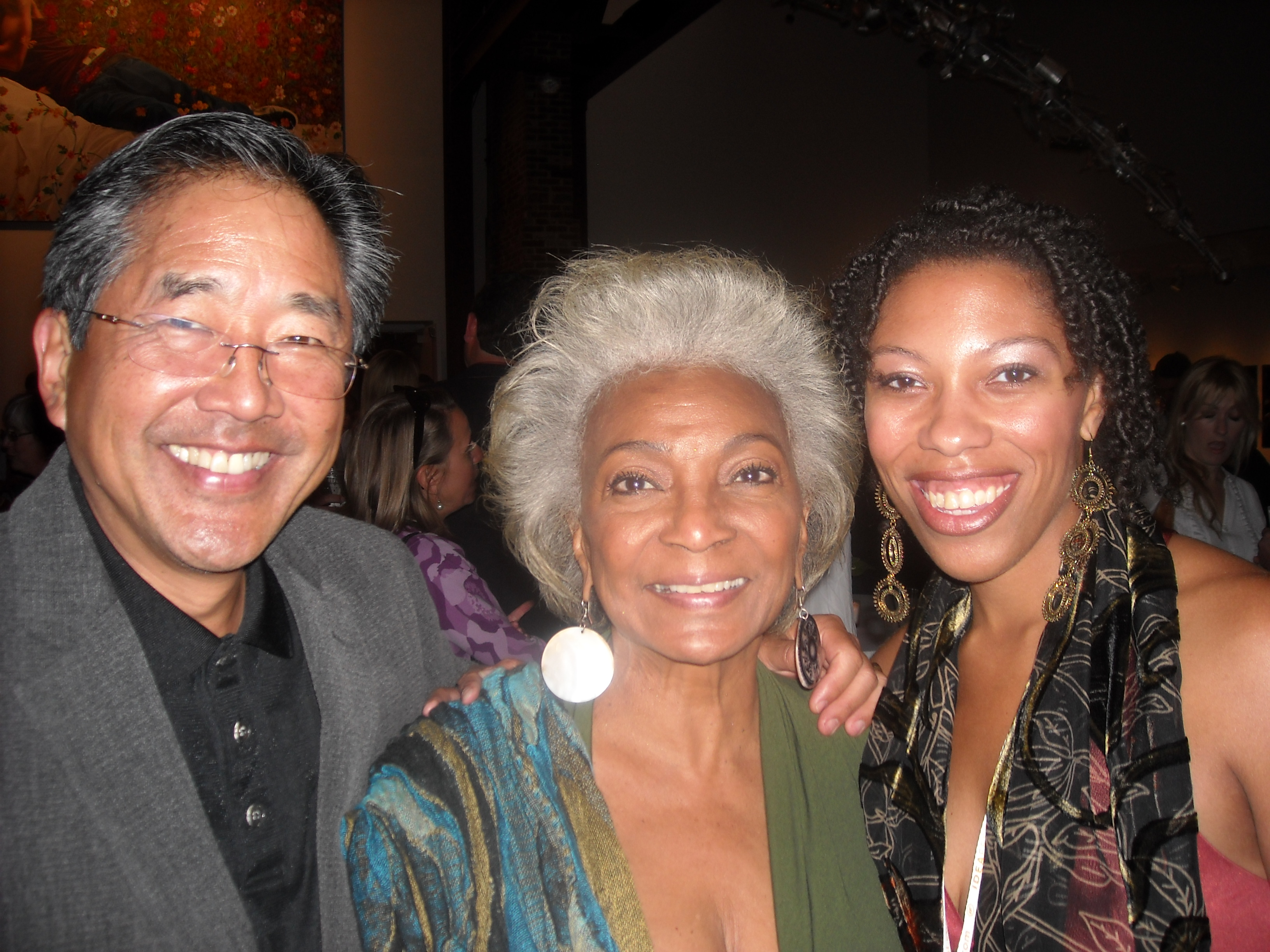 John Kobara, Nichelle Nichols and me at the IF10 Opening Reception