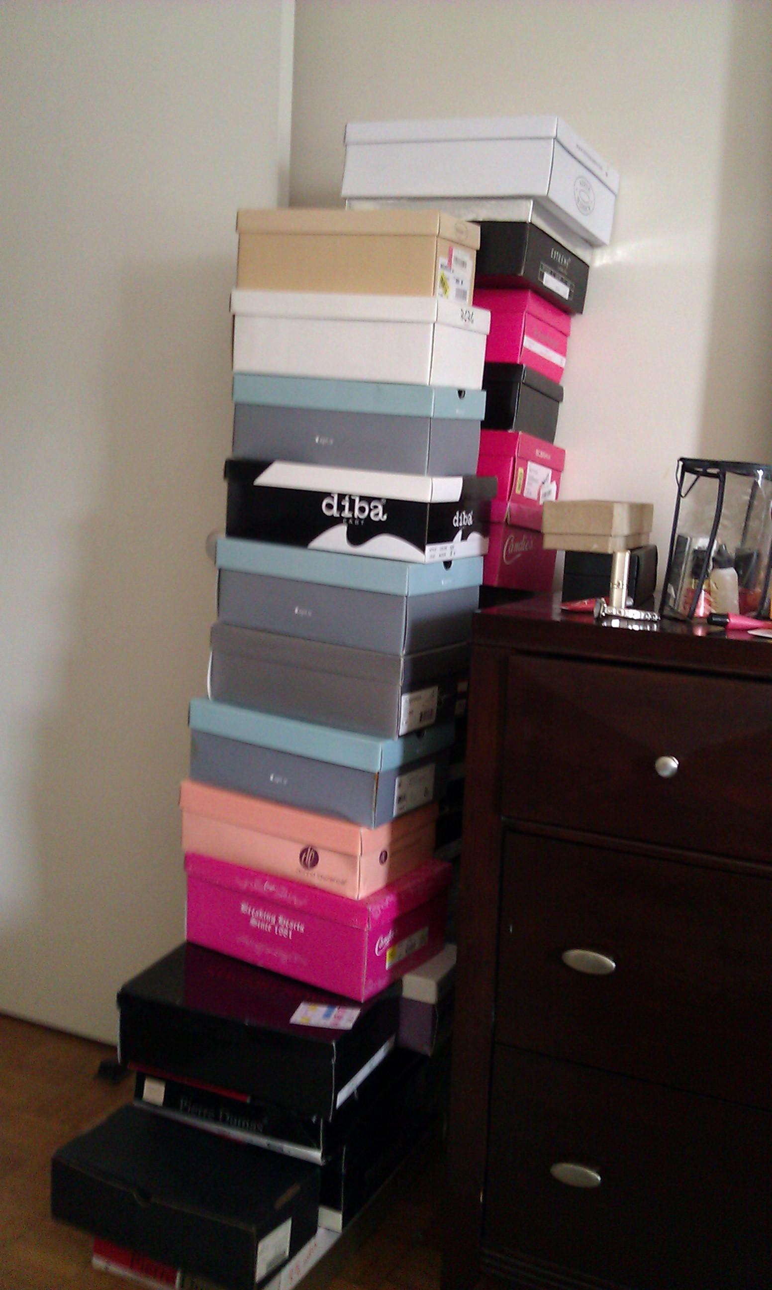 photo: pile of shoe boxes
