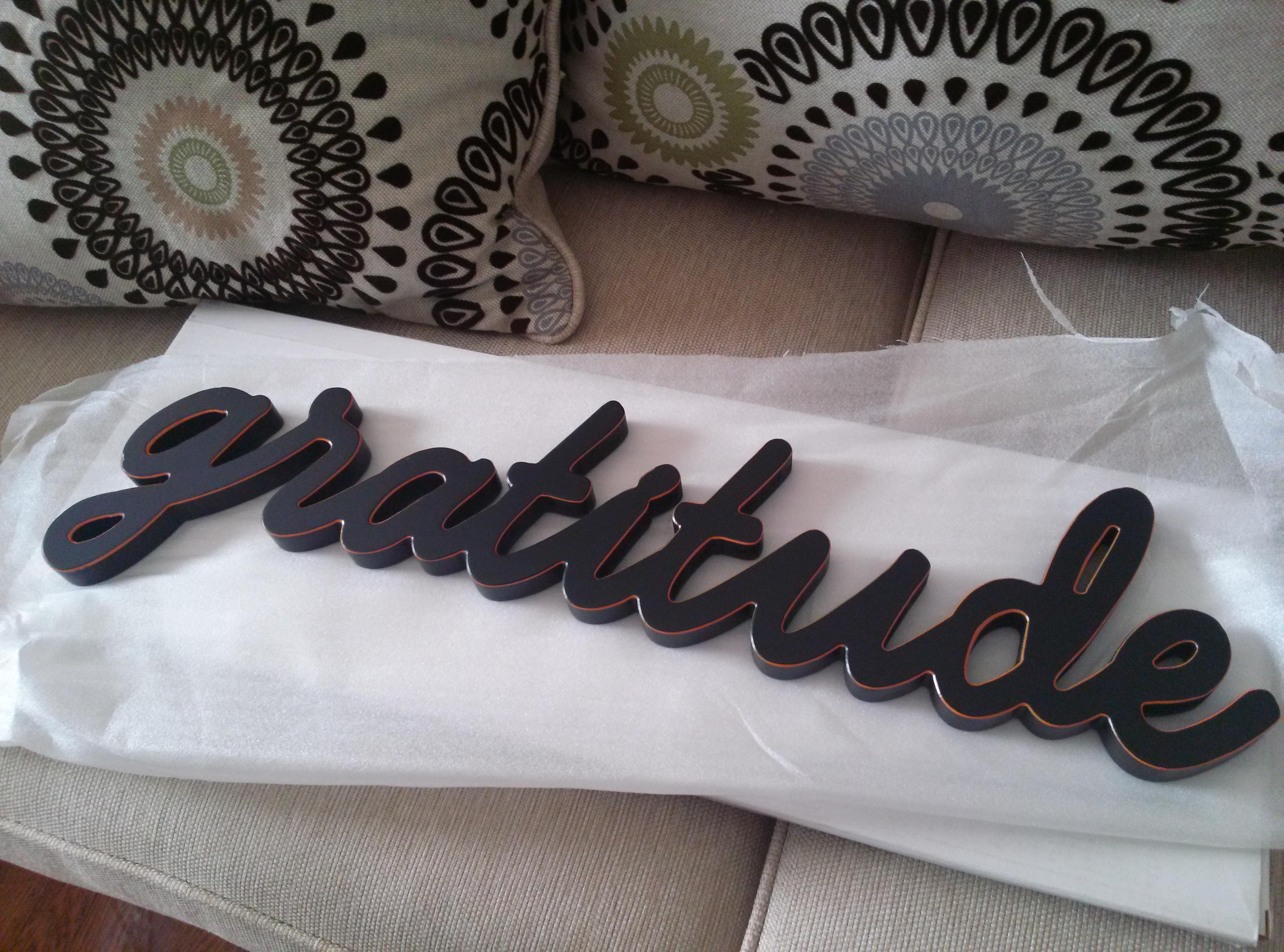Gratitude - large