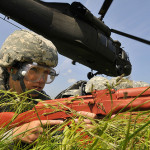 Army, Navy, Air Force perform joint helicopter deployment training