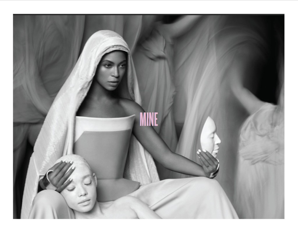 "A still from the video ""Mine,"" included in the digital booklet that came with Beyonce, the album. I suggest a refresher on The Pieta after you read the post, if you don't know the work."