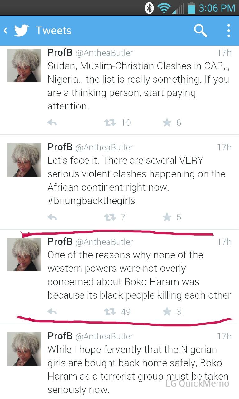 Anthea Butler's tweet