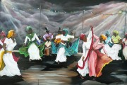 """Dance the Pique"" Artist: Karin Best. Visit http://fineartamerica.com/art/paintings/trinidad+and+tobago/framed+prints"