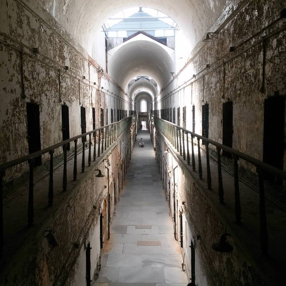 The most hauntingly beautiful view I found at Eastern State Penitentiary. Interior, cell block 7.